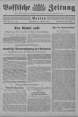 Vossische Zeitung vom 12.04.1931