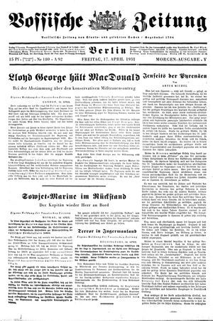 Vossische Zeitung vom 17.04.1931