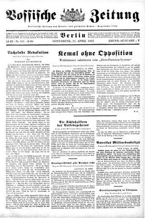 Vossische Zeitung vom 25.04.1931