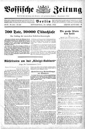 Vossische Zeitung vom 30.04.1931