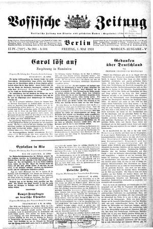 Vossische Zeitung vom 01.05.1931