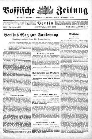 Vossische Zeitung vom 03.05.1931