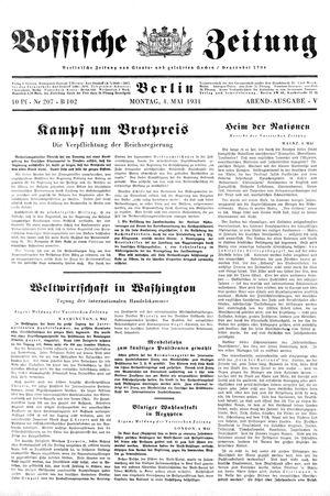 Vossische Zeitung vom 04.05.1931
