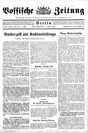Vossische Zeitung vom 07.05.1931