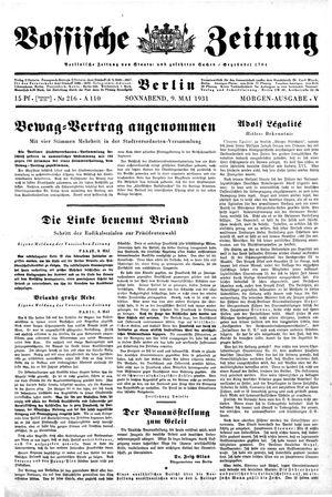 Vossische Zeitung vom 09.05.1931
