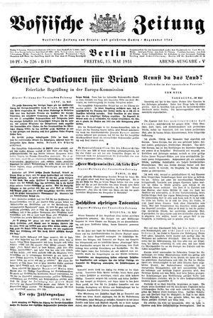 Vossische Zeitung on May 15, 1931