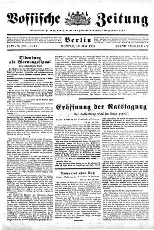 Vossische Zeitung vom 18.05.1931