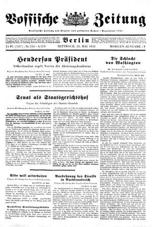 Vossische Zeitung vom 20.05.1931