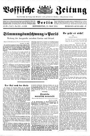 Vossische Zeitung vom 21.05.1931
