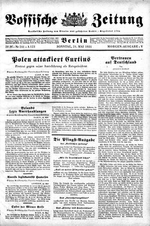 Vossische Zeitung vom 24.05.1931