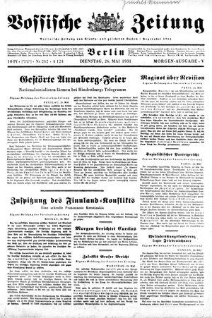 Vossische Zeitung vom 26.05.1931