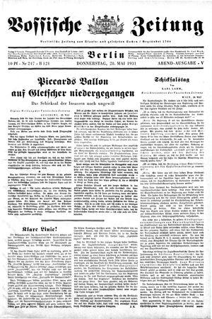 Vossische Zeitung vom 28.05.1931