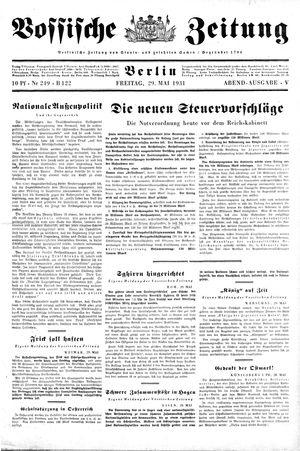 Vossische Zeitung vom 29.05.1931