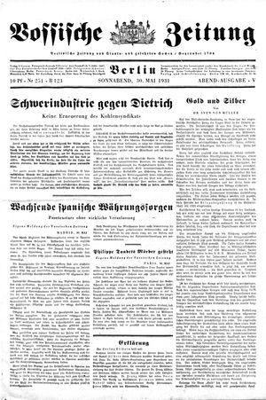 Vossische Zeitung vom 30.05.1931