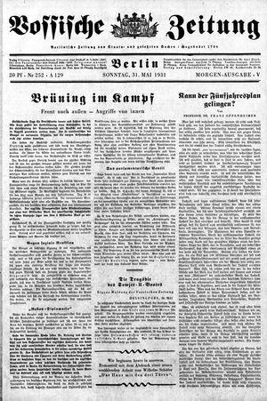 Vossische Zeitung on May 31, 1931