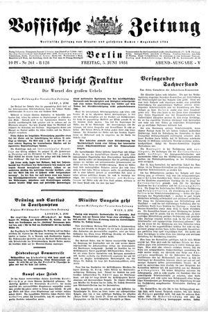 Vossische Zeitung on Jun 5, 1931