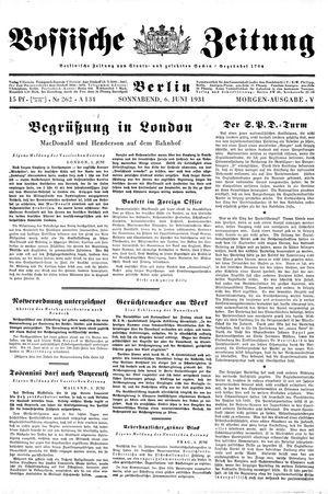 Vossische Zeitung vom 06.06.1931