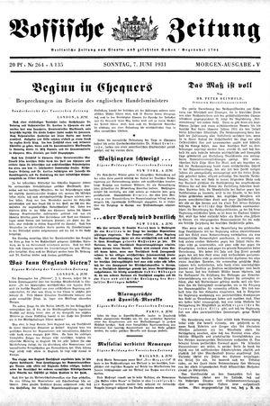 Vossische Zeitung vom 07.06.1931