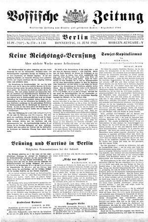 Vossische Zeitung vom 11.06.1931