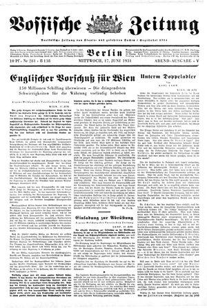 Vossische Zeitung on Jun 17, 1931