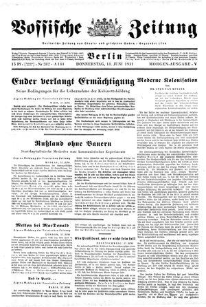 Vossische Zeitung vom 18.06.1931
