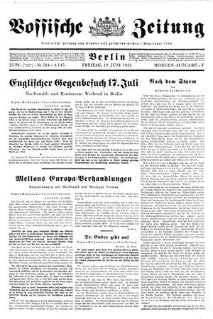 Vossische Zeitung vom 19.06.1931