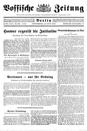 Vossische Zeitung vom 20.06.1931