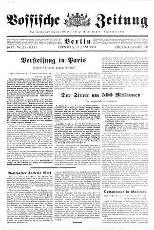 Vossische Zeitung vom 23.06.1931