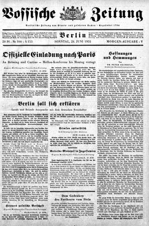 Vossische Zeitung vom 28.06.1931
