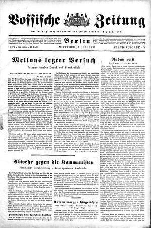 Vossische Zeitung on Jul 1, 1931