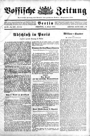 Vossische Zeitung vom 03.07.1931