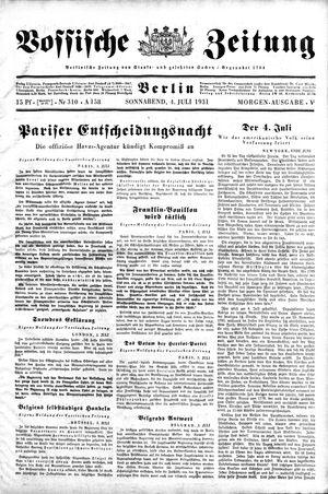 Vossische Zeitung vom 04.07.1931