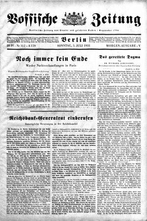 Vossische Zeitung on Jul 5, 1931