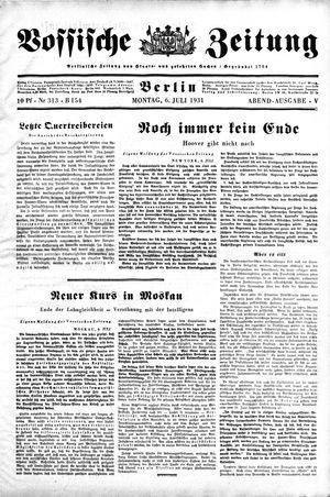 Vossische Zeitung vom 06.07.1931
