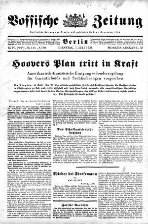 Vossische Zeitung vom 07.07.1931