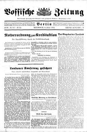 Vossische Zeitung vom 08.07.1931
