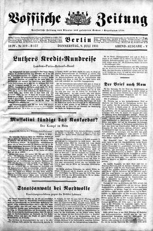 Vossische Zeitung vom 09.07.1931