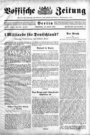 Vossische Zeitung on Jul 10, 1931