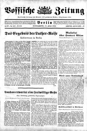 Vossische Zeitung vom 11.07.1931