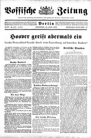 Vossische Zeitung vom 12.07.1931