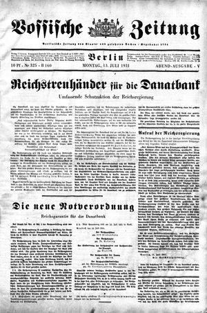 Vossische Zeitung on Jul 13, 1931