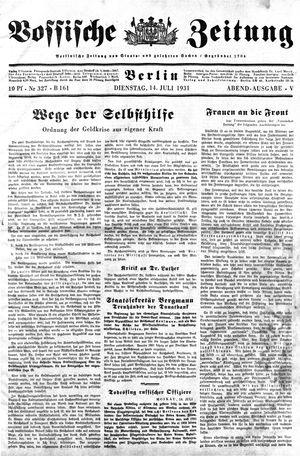Vossische Zeitung vom 14.07.1931