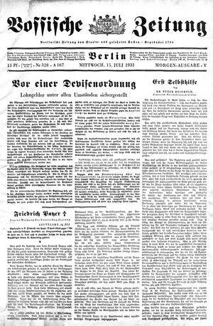 Vossische Zeitung vom 15.07.1931