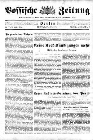 Vossische Zeitung vom 17.07.1931