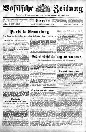 Vossische Zeitung vom 18.07.1931