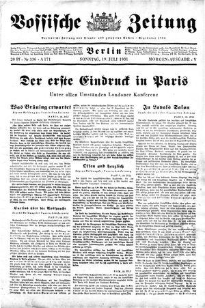 Vossische Zeitung vom 19.07.1931