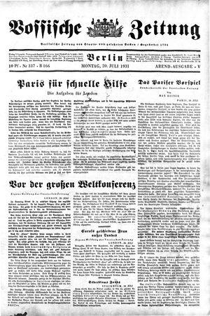 Vossische Zeitung vom 20.07.1931