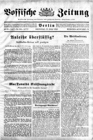Vossische Zeitung vom 21.07.1931