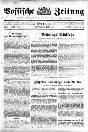 Vossische Zeitung vom 24.07.1931