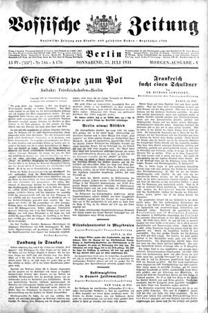 Vossische Zeitung vom 25.07.1931